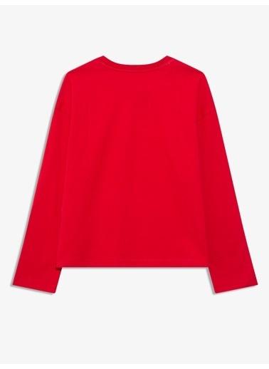 Gap Gap Logo Uzun Kollu T-Shirt Kırmızı